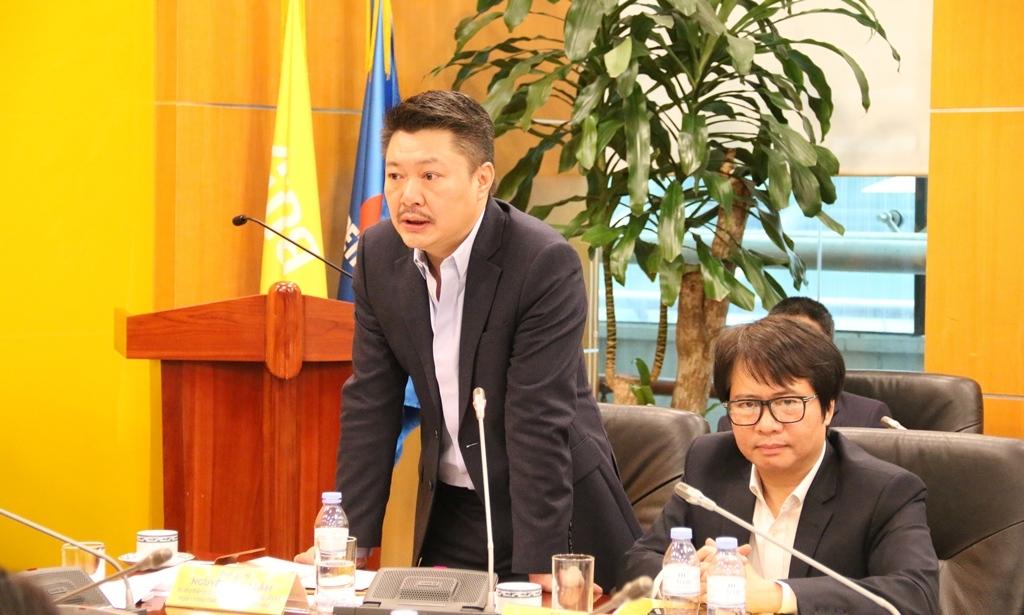 Chủ tịch HĐTV Petrovietnam Hoàng Quốc Vượng làm việc với PVcomBank