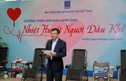 Chủ tịch HĐTV Petrovietnam Hoàng Quốc Vượng kêu gọi toàn thể người lao động Dầu khí tham gia hiến máu