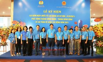 Đoàn đại biểu CĐ DKVN tham dự Lễ phát động Tháng Công nhân và Tháng hành động về An toàn, vệ sinh lao động năm 2021