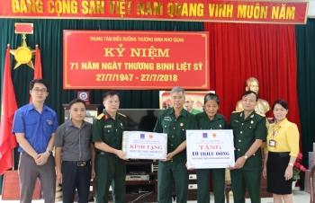 Thăm hỏi và tặng quà Trung tâm điều dưỡng thương binh Nho Quan