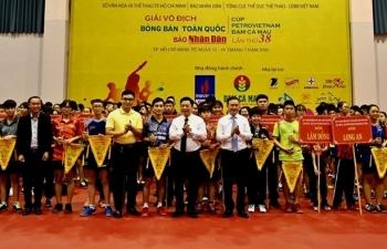 Khai mạc Giải bóng bàn tranh Cúp Petrovietnam - Đạm Cà Mau 2020