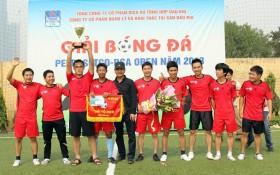 Đội Thang máy ThyssenKrupp vô địch Giải bóng đá Petrosetco - PSA Open 2013