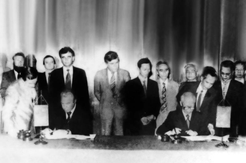 Lễ ký Hiệp định Liên Chính phủ giữa Việt Nam và Liên Xô về việc thành lập Liên doanh Dầu khí Việt – Xô vào ngày 19/6/1981
