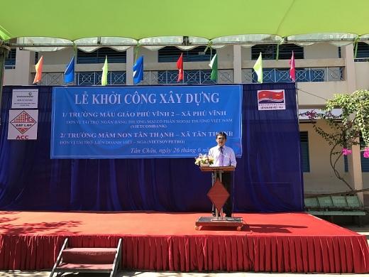 Vietsovpetro khởi công xây dựng trường mầm non tại An Giang