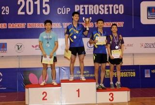 Bế mạc Giải bóng bàn Quốc tế Cây vợt Vàng mở rộng lần thứ 29 - 2015 cúp PETROSETCO