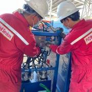 Công đoàn PV Drilling động viên người lao động đang thực hiện