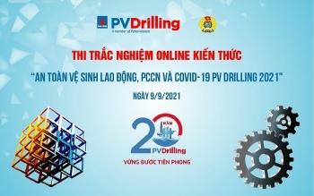 """Công đoàn PV Drilling tổ chức cuộc thi trực tuyến """"Tìm hiểu kiến thức về ATVSLĐ, PCCN và dịch bệnh Covid-19"""""""