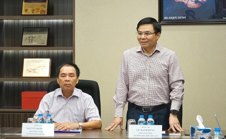 Tổng giám đốc PVN làm việc với Cửu Long JOC, các Ban điều hành dự án Lô 01-02 và Lô 01-02/97