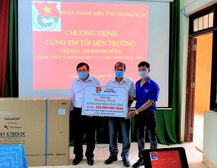 """Tuổi trẻ PTSC Quảng Ngãi tổ chức chương trình """"Cùng em đến trường năm 2021"""""""