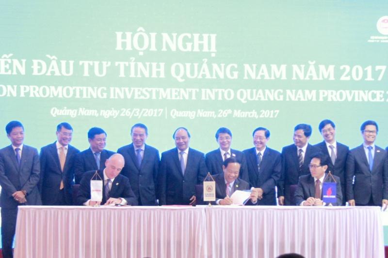 PVN, Exxon Mobil và tỉnh Quảng Nam ký kết hỏa thuận hợp tác đầu tư dự án mỏ khí Cá Voi Xanh