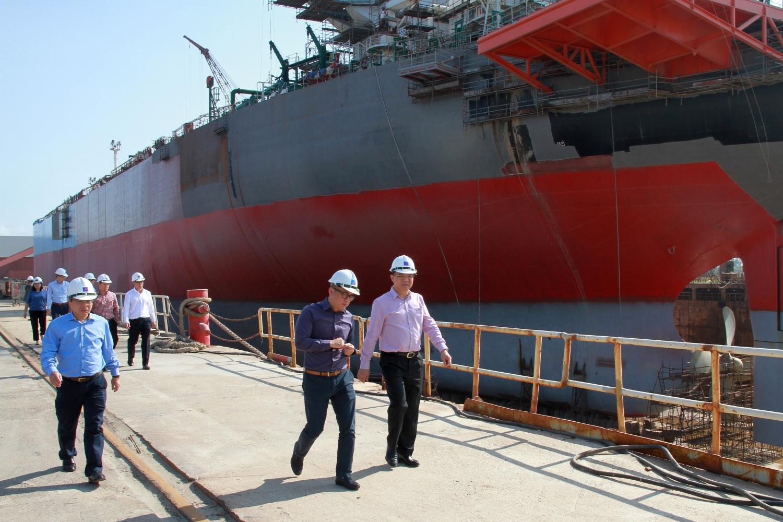 Tổng Giám đốc Petrovietnam Lê Mạnh Hùng làm việc tại DQS