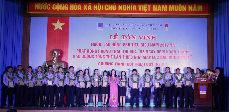 bsr ton vinh nguoi lao dong tieu bieu va phat dong thi dua bao duong tong the lan 3