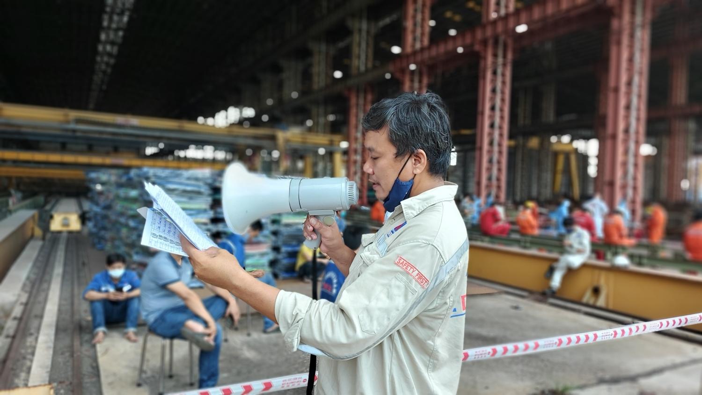 DQS tổ chức cho người lao động ở lại nhà máy để phòng, chống Covid - 19