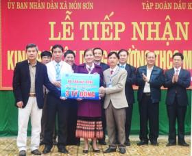 PVN ủng hộ trường THCS ở Nghệ An 3 tỉ đồng