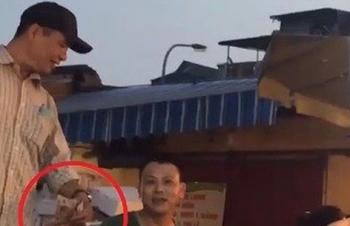 cong an bat nghi pham cam dau vu bao ke o cho long bien