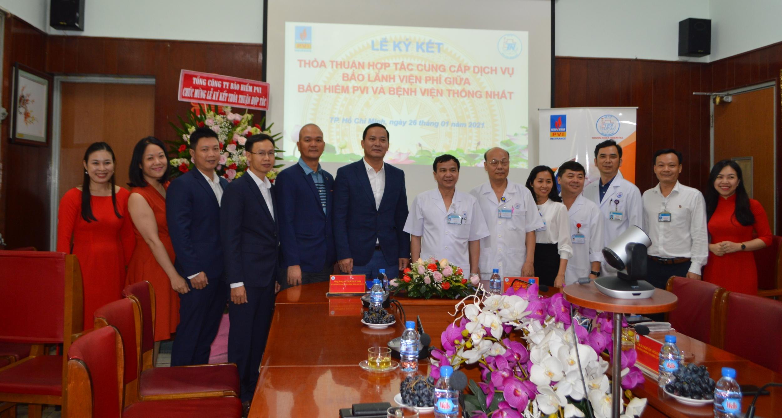 Bảo hiểm PVI mở rộng Thỏa thuận Hợp tác bảo lãnh viện phí với Bệnh viện Thống nhất TP Hồ Chí Minh