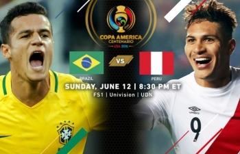 Trực tiếp Chung kết Copa America 2019: Xem trực tiếp Brazil vs Peru ở đâu?