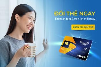 pvcombank mien phi doi the chip noi dia tren toan he thong