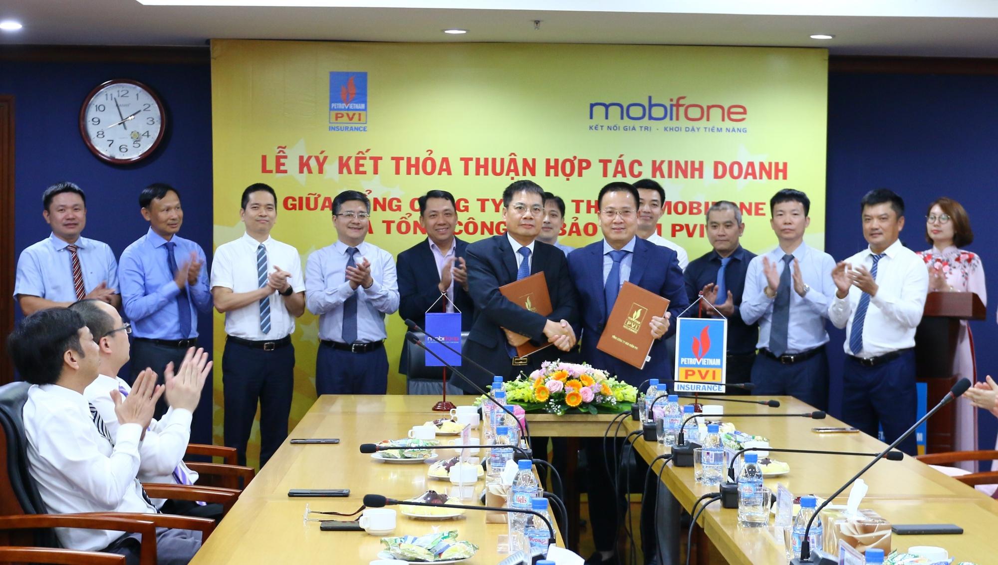 Bảo hiểm PVI và MobiFone ký Thỏa thuận hợp tác kinh doanh