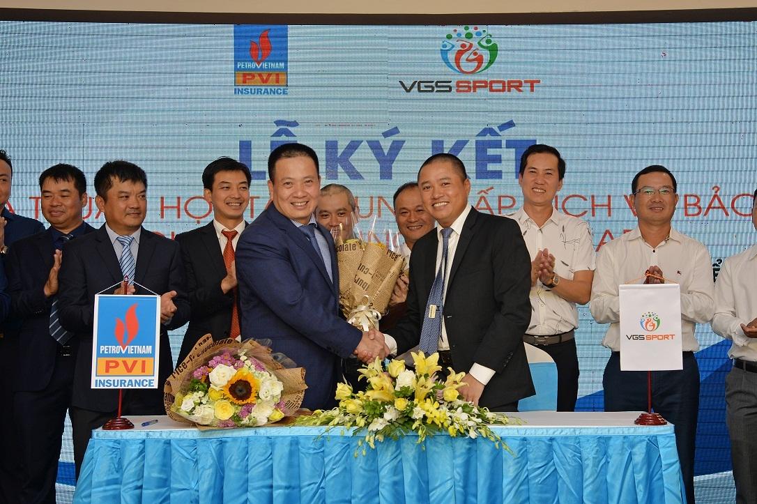 Bảo hiểm PVI và VGS Thể thao ký Thoả thuận hợp tác cung cấp dịch vụ bảo hiểm