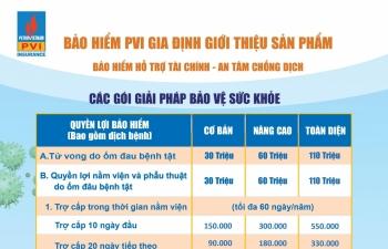 """""""An tâm chống dịch"""" với Bảo hiểm PVI Gia Định"""