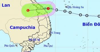 Áp thấp nhiệt đới đã vào vùng biển các tỉnh Đà Nẵng đến Quảng Ngãi
