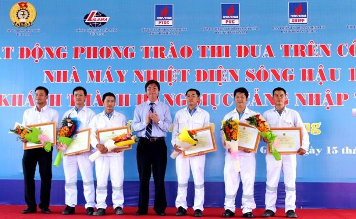 phat dong phong trao thi dua tren cong truong nha may nhiet dien song hau 1