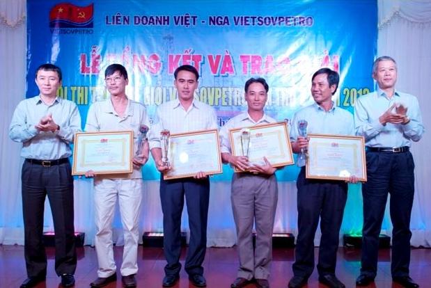 Vietsovpetro tổng kết và trao giải Hội thi tay nghề lần thứ V