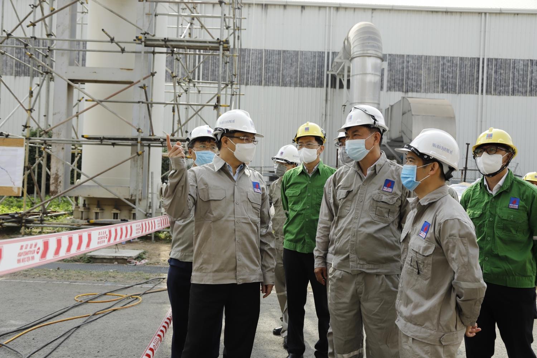 Tổng Giám đốc Petrovietnam Lê Mạnh Hùng kiểm tra công tác BDTT Nhà máy Đạm Phú Mỹ và làm việc với PVFCCo