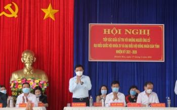 Đồng chí Lê Mạnh Hùng tiếp xúc cử tri tại huyện U Minh và TP Cà Mau, tỉnh Cà Mau