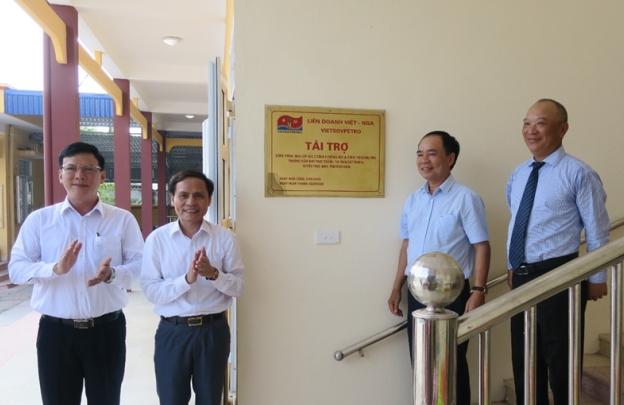 Vietsovpetro khánh thành công trình an sinh xã hội tại Nam Định, Thái Bình