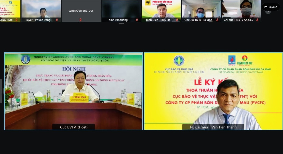 Phân bón Cà Mau – Cục BVTV ký kết MOU: Chiến lược sản phẩm phù hợp định hướng phát triển nông nghiệp bền vững