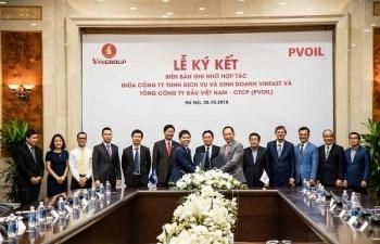 PVOIL và Vinfast service: Hợp tác cùng phát triển trên các lĩnh vực kinh doanh