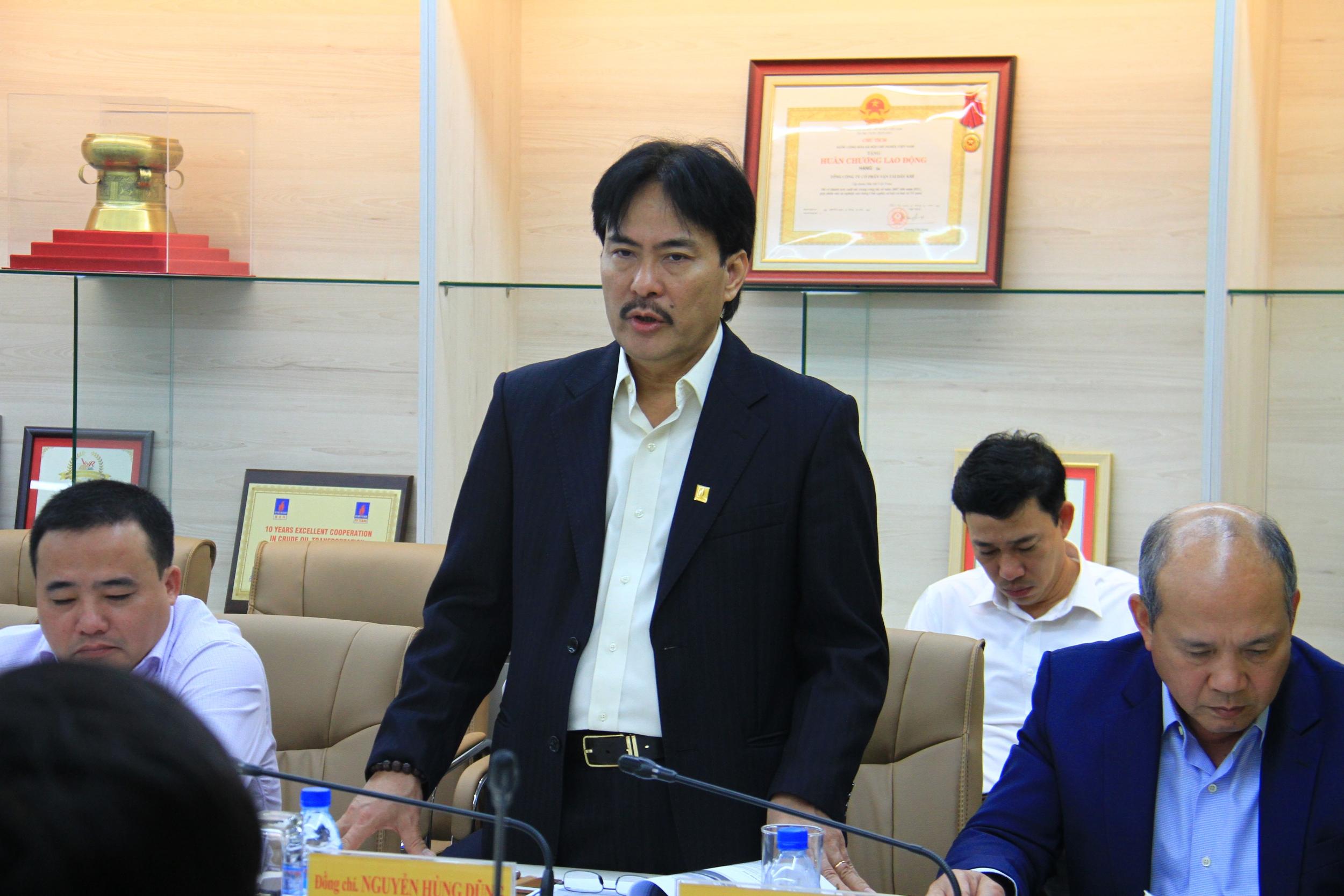 Chủ tịch HĐTV Petrovietnam Hoàng Quốc Vượng làm việc với PVTrans