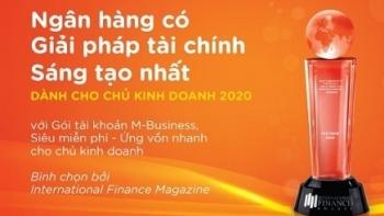 Tạp chí International Finance vinh danh Ngân hàng MSB có giải pháp tài chính sáng tạo nhất cho chủ kinh doanh năm 2020