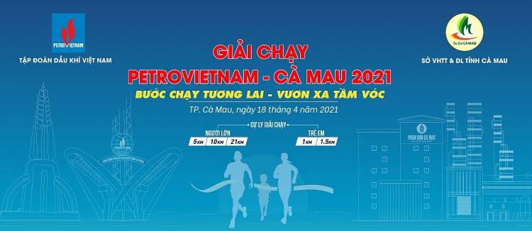 """Giải Petrovietnam - Cà Mau 2021: """"Bước chạy tương lai - Vươn xa tầm vóc"""""""