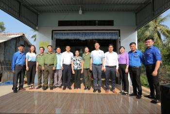 PVCFC phối hợp Công an tỉnh Cà Mau trao nhà Đại đoàn kết tại xã Khánh Bình, huyện Trần Văn Thời