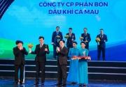 Phân bón Cà Mau nhận giải thưởng Thương hiệu quốc gia