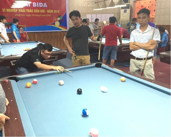 cong doan xi nghiep khai thac dau khi to chuc giai thi dau billiards noi bo nam 2018